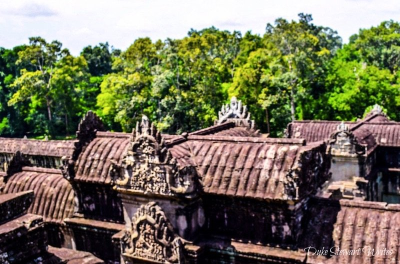 Taken from inside Angkor Wat towards the east end of the temple