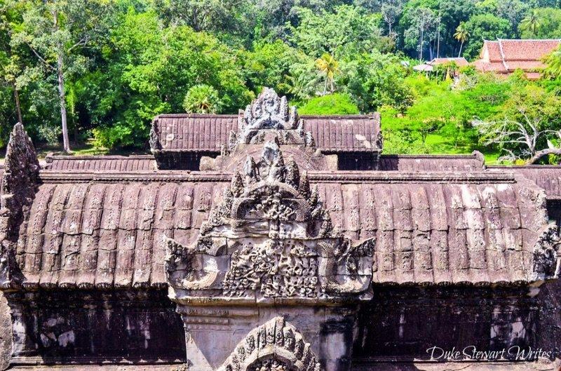 Taken from inside Angkor Wat