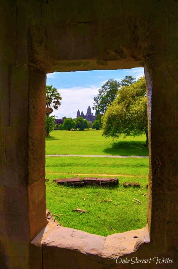 The Main Angkor Wat Temple from the exterior wall