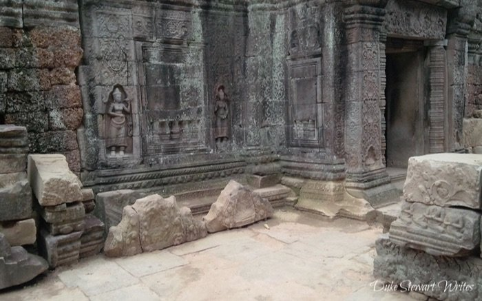 Walking Around East Mebon near Angkor in Cambodia