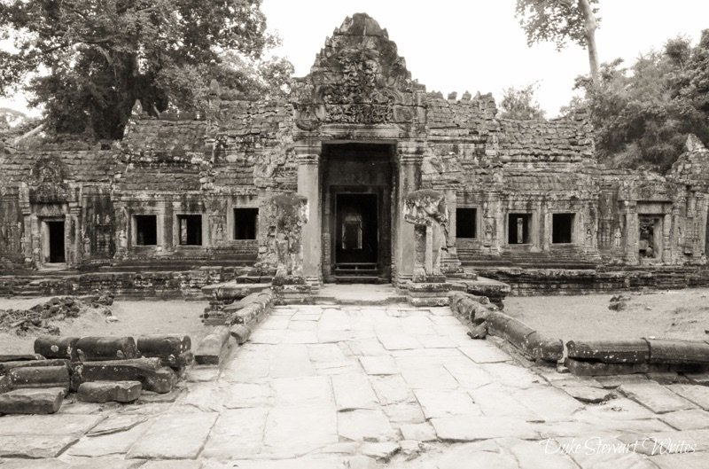 Walking around the Preah Khan Complex near Angkor, Cambodia