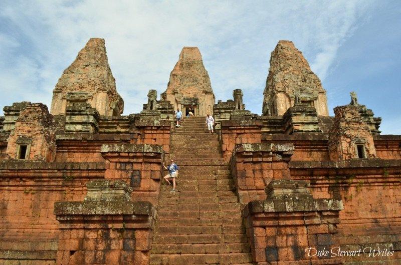 Walking up Pre Rup near Angkor, Cambodia