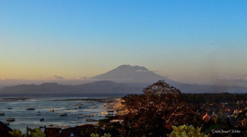 Bali from Jungut Batu Hill Nusa Lembongan
