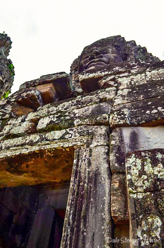 Bayon Stone Face from Below