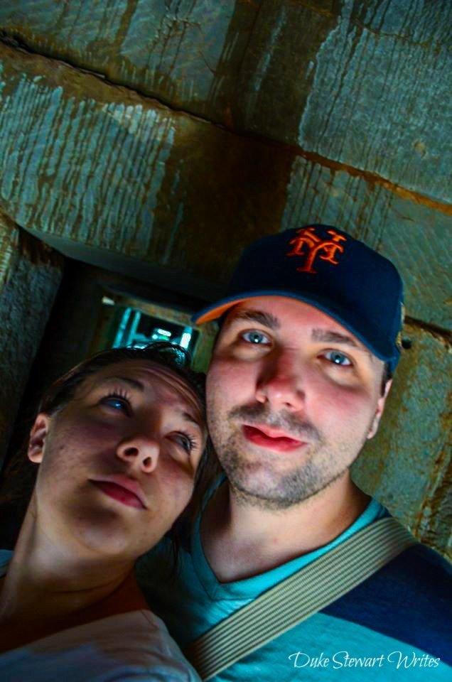 Duke Stewart and Christina inside Ta Prohm galleries