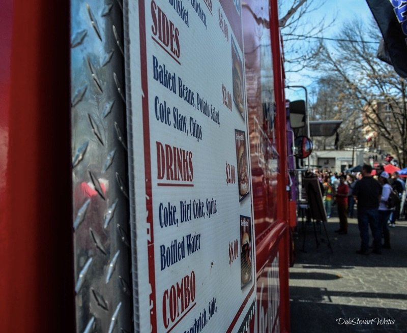 Food Truck and people at the Durham Food Truck Rodeo Winter 2016