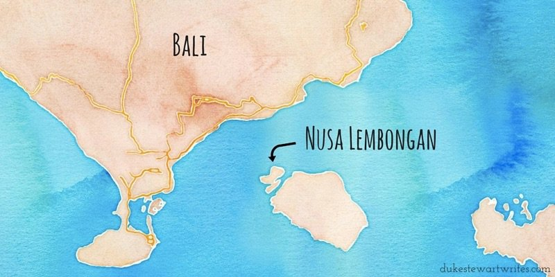 Nusa Lembongan Map via maps.stamen.com
