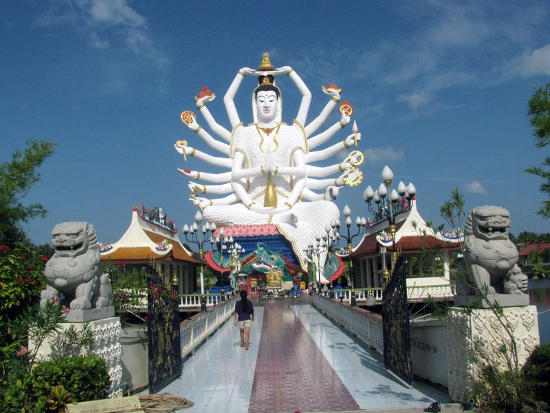 Thailand Ko Samui Wat Plai Laem Photo by Flickr User Holiday Point