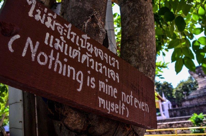 Chiang Mai Wat Chedi Luang Message