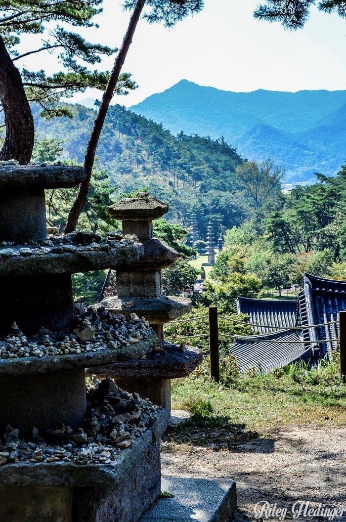 Hwasun Stone Pagodas Near and Far