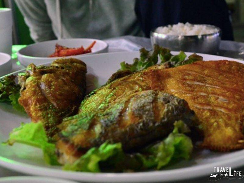 I Love Korean Food Fried Fish