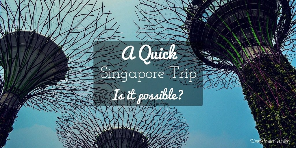 Is a quick Singapore Trip Possible by Duke Stewart
