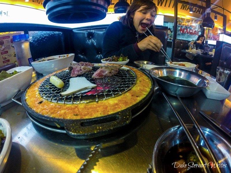 Korean Food Barbecue Pork Belly Samgyupsal