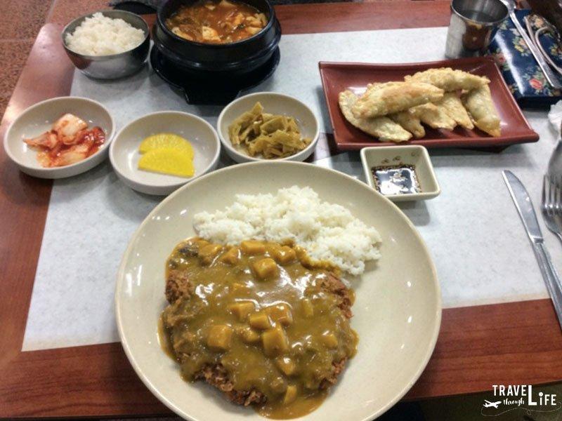 Korean Food Curry Donkasu