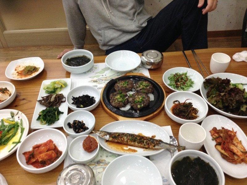 Korean Food Damyang Deokgalbi and Fish