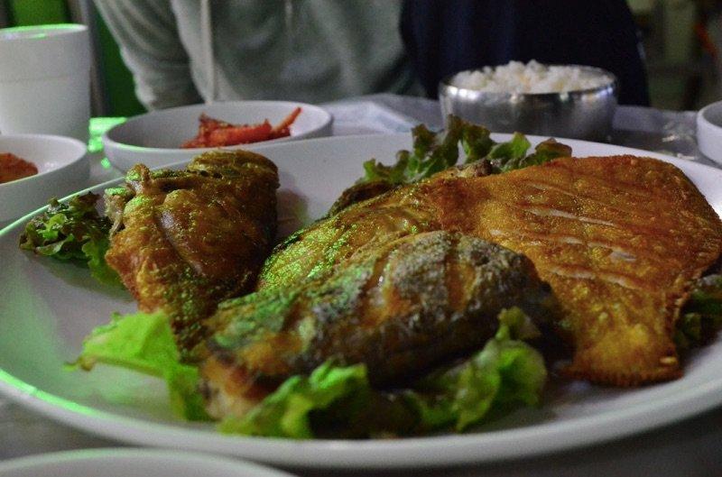 Korean Food Fried Fish Naksan Beach