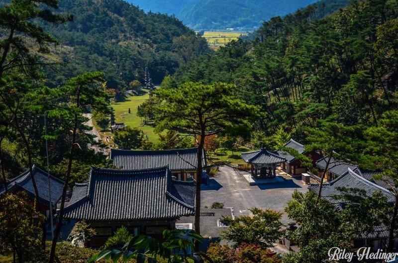 Overlooking Hwasun Unjusa Temple Korea