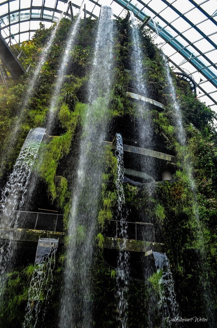 Singapore Cloud Forest Waterfalls