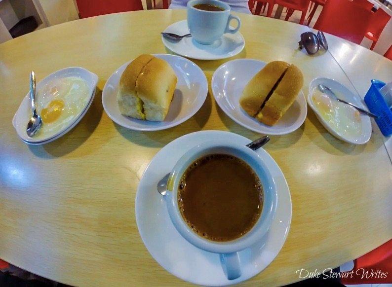 Singapore Kaya Toast and Coffee