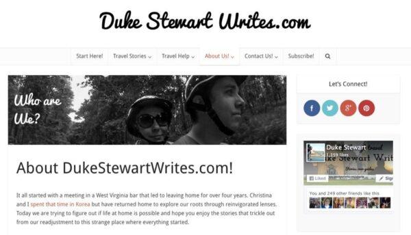 Duke Stewart About Page