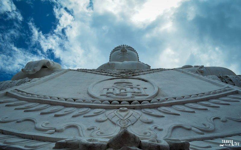 Pai Thailand Wat Pra That Mae Yen White Buddha