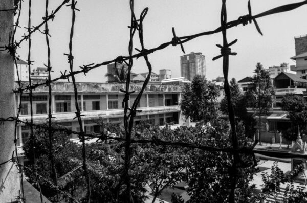 Phnom Penh Tuol Sleng Genocide Museum Barbed Wire