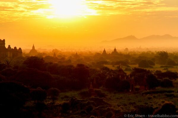 Bagan Sunrise Photo by Eric Stoen