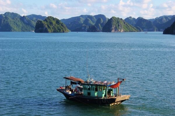 Halong Bay, Vietnam Fishing Boat Photo by JetSettingFools.com