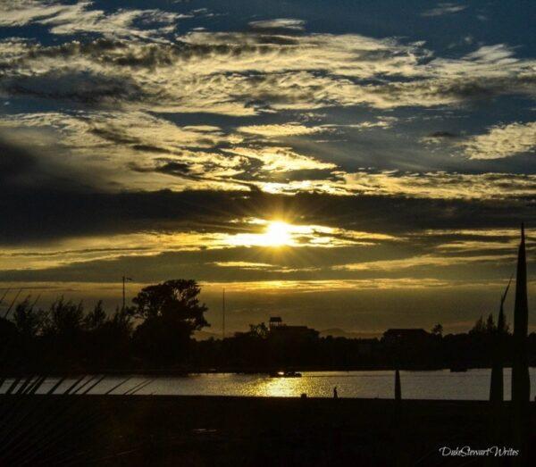 Kampot Praek Tuek Chhu River Sunset