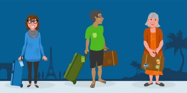The Travel Generation Gap. Image Courtesy of Hipmunk