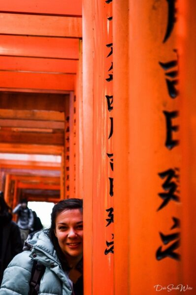Christina and Fushimi Inari Kyoto