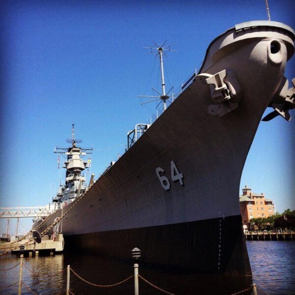 USS Wisconsin Photo by Kaylee Spinhirn via Trover.com