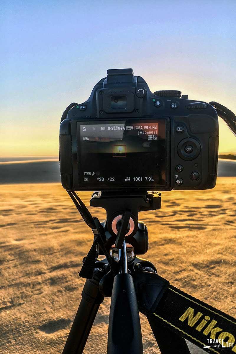Jockey's Ridge State Park NC Taking Photos with Nikon