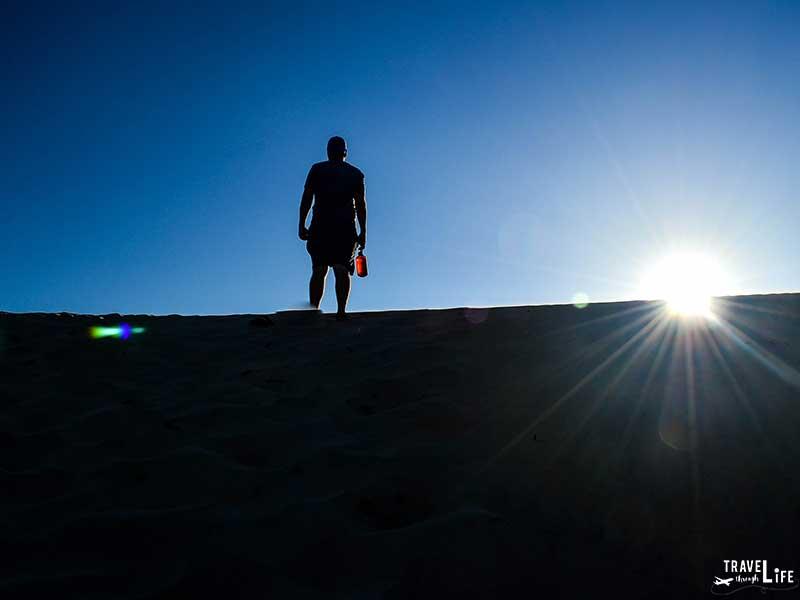 NC State Parks Jockey's Ridge Standing on Sand Dune