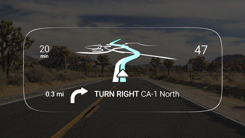 Map-View-Desert-Road