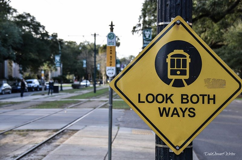 New Orleans Streetcar Crossing