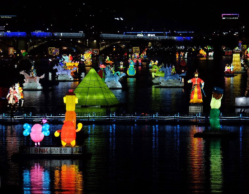 Fall in South Korea Jinju Lantern Festival