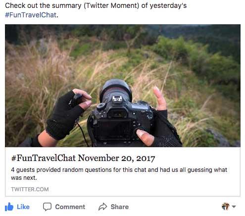 #FunTravelChat Recap Image
