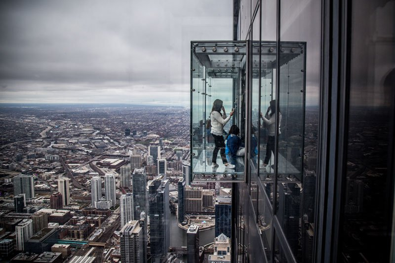 Chicago Attractions Willis Tower Sky Box Photo by Flickr User Phil Roeder