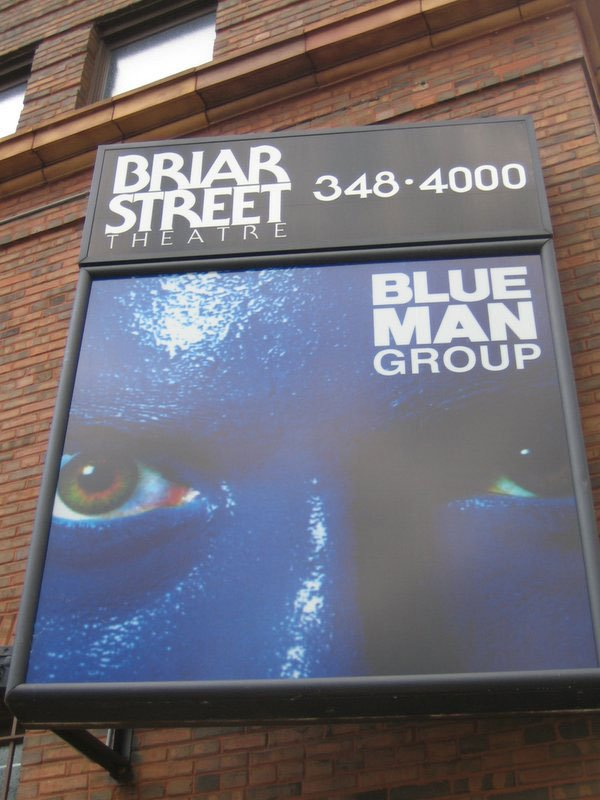 Chicago Blue Man Group Photo by Flickr User Laura