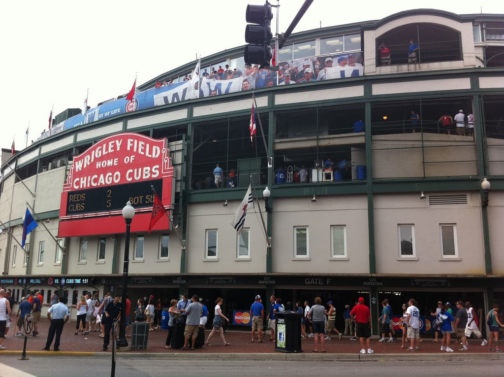 Chicago Wrigley Field Photo by Flickr User Carlos Pacheco
