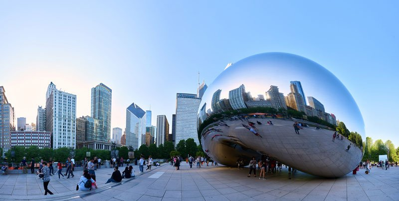 Millenium Park Chicago Illinois Photo by Flickr User Pedro Szekely