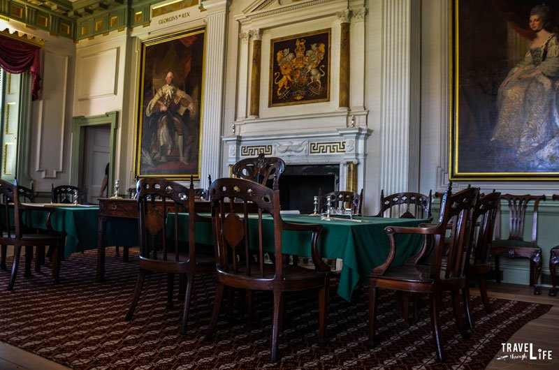 Dining Room inside Tryon Palace