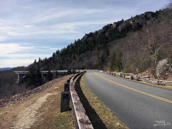 Linn Cove Viaduct NC Blue Ridge Parkway Image