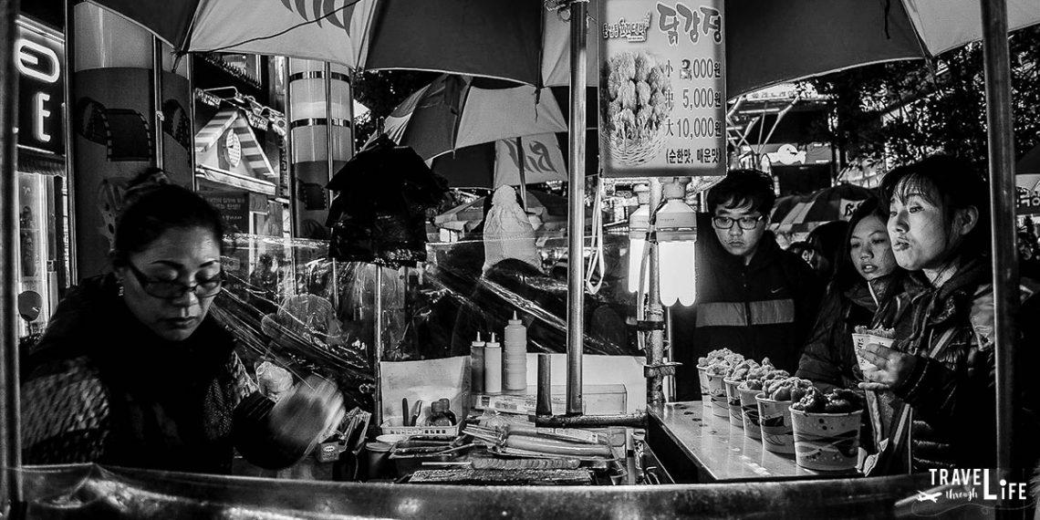 Nampodong Streetfood in Busan South Korea