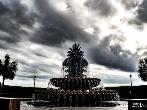 Charleston South Carolina Historic District Pineapple Fountain Image