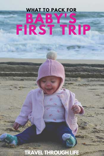 Baby Travel Packing List for Infants Pinnable Image