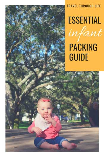 Baby Travel Packing List for Infants Pinterest Featured Image