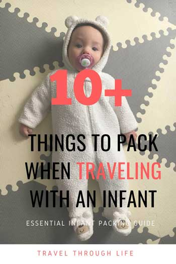 Baby Travel Packing List for Infants Pinterest Image