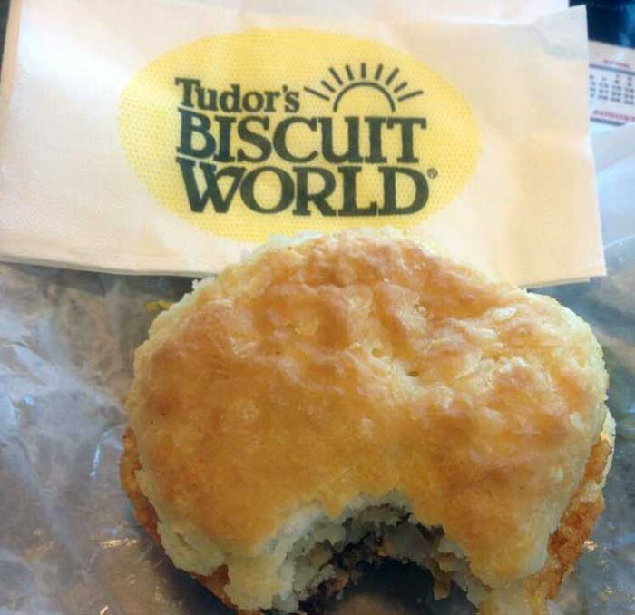 Huntington WV Restaurants Tudors Biscuit World Thundering Herd Photo by Gavin Walter